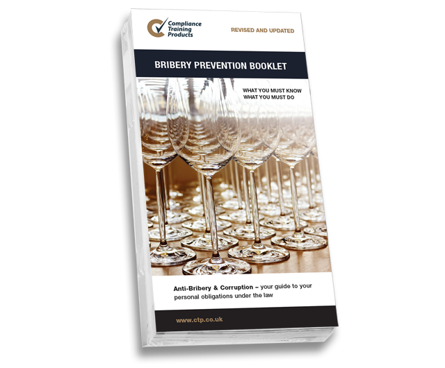 Product image showing bribery prevention booklets